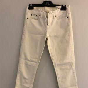 J.Crew Toothpick White Jeans Size 26